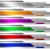 Banner Metalic Multicolor Stock Photography