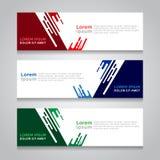 Banner Modern Vectorontwerp Als achtergrond Stock Afbeeldingen