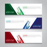 Banner Modern Vectorontwerp Als achtergrond Royalty-vrije Stock Fotografie