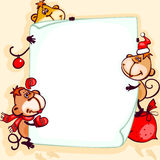 Banner 2016 monkey Royalty Free Stock Photo