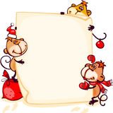 Banner 2016 monkey. Chinese zodiac new year banner 2016 with the monkey stock illustration