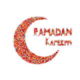 Banner with moon and arabic lantern for holy month Royalty Free Stock Image
