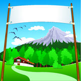 Banner on mountain Royalty Free Stock Photography