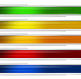 Banner multicolor Royalty Free Stock Photos