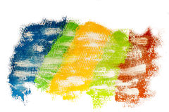 Banner of multicolored paint strips Royalty Free Stock Images