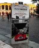 Banner of the Museum Nicolis in Verona, Italy stock photography
