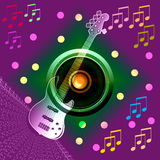 Banner Music notes Royalty Free Stock Image