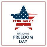 Banner of the National Day of Freedom of America. Vector. Creative banner or postcard of the national day of freedom in the US with a flag of America Royalty Free Stock Photo