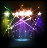 Banner neon light stage background Royalty Free Stock Photos