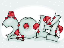 Banner new 2014 year. Banner of new 2014 year with Santa Claus Stock Photography
