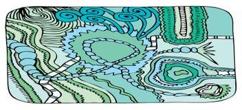 banner niebieski wzór abstrakcyjne Zdjęcie Royalty Free