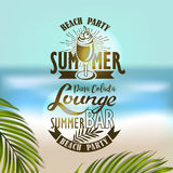 Banner for night summer beach party Royalty Free Stock Images