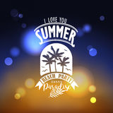 Banner for night summer beach party Stock Images