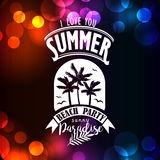 Banner for night summer beach party Royalty Free Stock Image