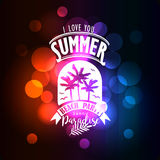 Banner for night summer beach party Royalty Free Stock Photography