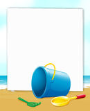 Banner with ocean view Royalty Free Stock Photo