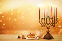 Free Banner Of Jewish Holiday Hanukkah Background Royalty Free Stock Photography - 130514577
