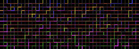 Banner Of The Iridescent Blue Squares Royalty Free Stock Photo