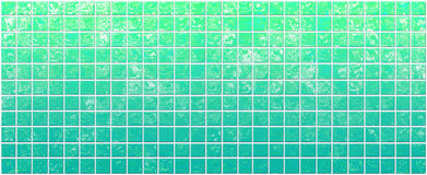 Banner Of The Iridescent Green Squares Royalty Free Stock Images