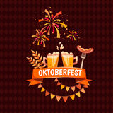Banner for Oktoberfest celebration. Beer and Royalty Free Stock Photography