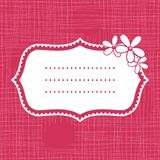 Banner On Seamless Pink Background With Flowers Stock Image