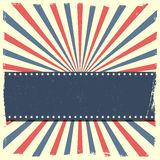 Banner op een patriottische gestreepte achtergrond Royalty-vrije Stock Foto's