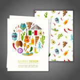 Banner op Mexicaans thema Vector illustratie Stock Foto