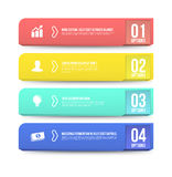 Banner options 3D digital illustration Infographic. Royalty Free Stock Photos