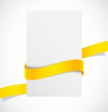Banner with orange ribbon Stock Photo