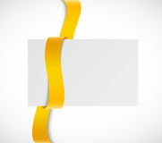 Banner with orange ribbon Stock Photography