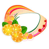 Banner with orange slices Stock Photos