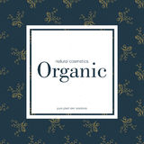 Banner for organic shop. Vector floral illustration. Banner for organic shop. Vector floral illustration with pattern background Stock Photos