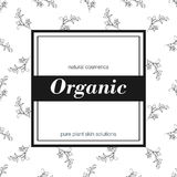 Banner for organic shop. Vector floral illustration.  Royalty Free Stock Photography