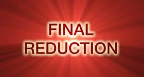 banner ostatecznego flary czerwona redukcji sprzedaży ilustracji
