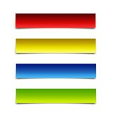 Banner Package. Red, yellow, blue, green Royalty Free Stock Image