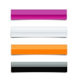 Banner Package. Pink, White, Orange, Black Royalty Free Stock Photography