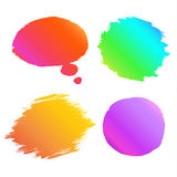 Banner paint gradient set. Royalty Free Stock Image