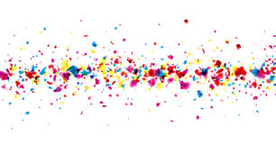 Banner with painted drops. Stock Images