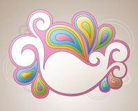 Banner with paisley Stock Images