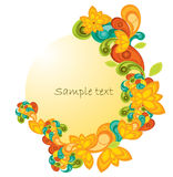 Banner with paisley. Abstract illustration background Stock Images