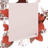 Banner with a paper and red leaves Royalty Free Stock Images