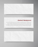 Banner and paper Royalty Free Stock Photo