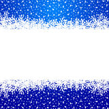 Banner with paper snowflakes Royalty Free Stock Image