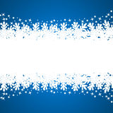 Banner with paper snowflakes Stock Photo
