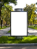 Banner is in a park Stock Photos
