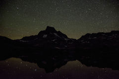 Banner Peak and Stars Reflecting on Thousand Island Lake Royalty Free Stock Photo