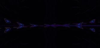 Banner of pearls. Abstract coloured spectral pearls on black background royalty free illustration