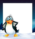 Banner and penquin Royalty Free Stock Photos