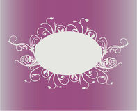 Banner pink. Floral organic workwith vector Stock Photo