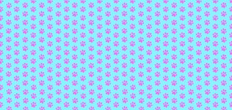 Banner with pink seamless pattern of animal footprints on light Stock Image